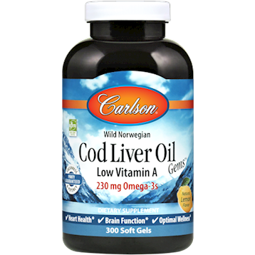 Cod Liver Oil Low Vit A 1000 mg 300 gels