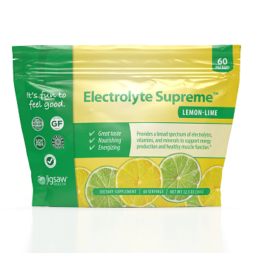Electrolyte Supreme Lemon Lime 60 packs Jigsaw Health