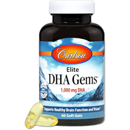 Elite DHA Gems 60 softgels Carlson Labs