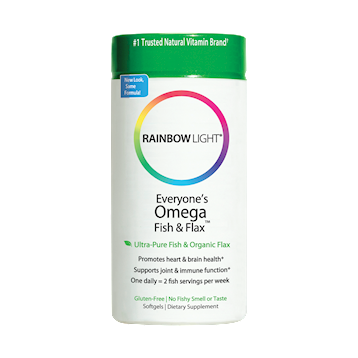 Everyones Omega Fish and Flax 60 softgels Rainbow Light Nutrition