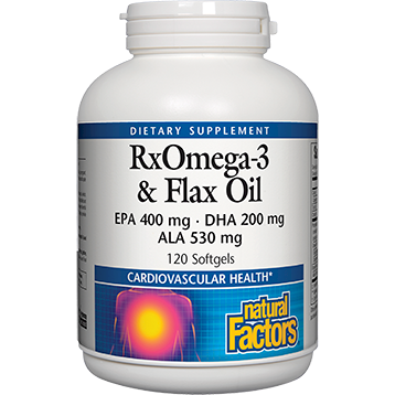 Fish and Flax Oil RxOmega-3 120 gels