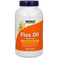 Now Foods Flax Oil 1000 mg 250 softgels