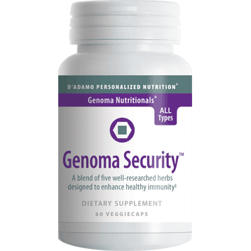 Genoma Security 60 vcaps		D'Adamo Personalized Nutrition