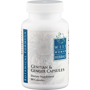 Wise Woman Herbals Gentian and Ginger Capsules 90 caps