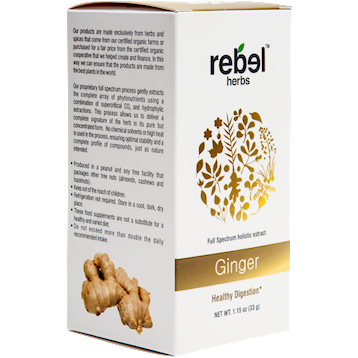 Ginger Powdered 1.15 oz Rebel Herbs