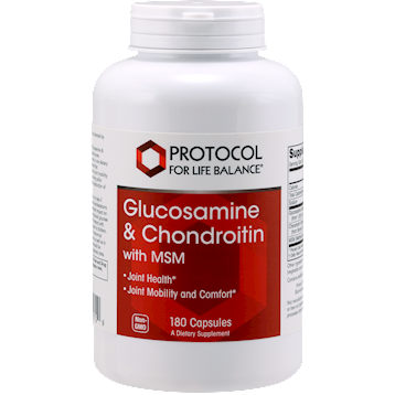 Protocol For Life Balance Glucosamine & Chondroitin w/MSM 180 caps