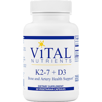 K2-7 and D3 60 vegcaps	Vital Nutrients