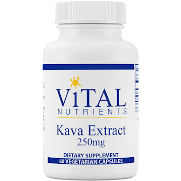 Kava Kava Root 250 mg 60 caps Vital Nutrients