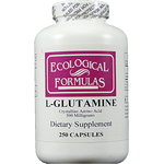 Ecological Formulas L-Glutamine 500 mg 250 caps