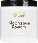 Magnesium Powder - 30 servings (6 oz - 171g) Rose Nutrients