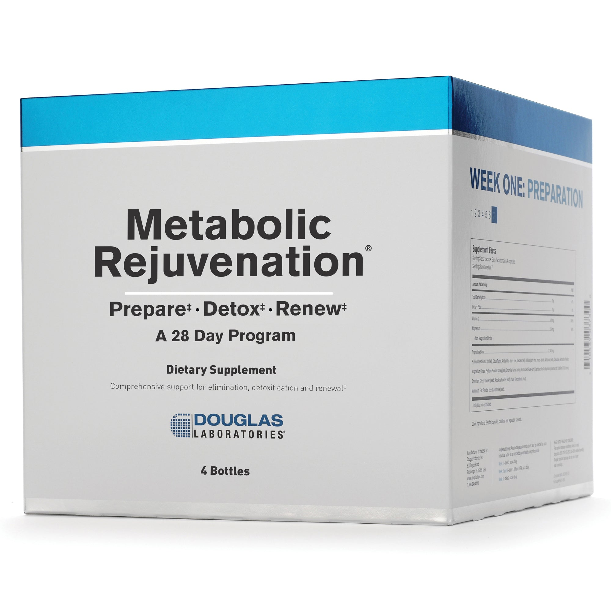 Metabolic Rejuvenation Program 4 bottles Douglas Labs