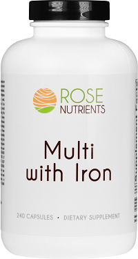 Multi with Iron - 240 ct Rose Nutrients