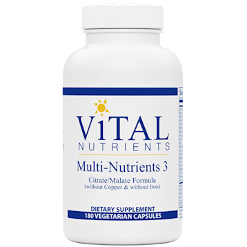 Vital Nutrients Multi-Nutrients III Citrate Form 180caps
