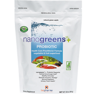 BioPharma Scientific nanogreens10+probiotic Green App 30 srv