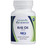 Longevity Science NKO Krill 500 mg 60 gels