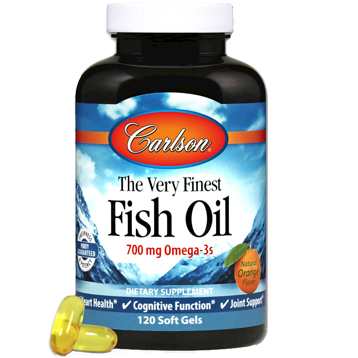 Carlson Labs Norwegian Fish Oil Orange 1000mg 120gels
