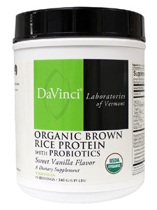 Org Brown Rice Protein with Probiotics 540g Davinci Labs