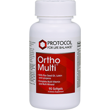 Ortho Multi w/Flax Oil 400 mg 90 gels Protocol for Life Balance