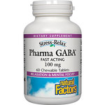 Natural Factors PharmaGABA 60 chew