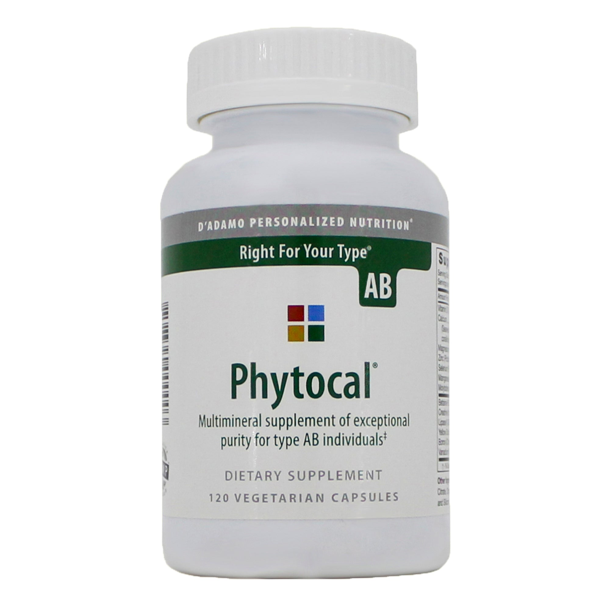 Phytocal AB 120 vcaps D'Adamo Personalized Nutrition