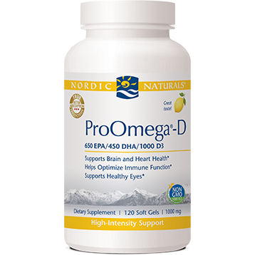 Nordic Naturals ProOmega-D Lemon 1000 mg 120 gels