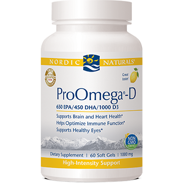 ProOmega-D Lemon Flavor 1000 mg 60 gels