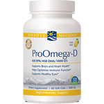 Nordic Naturals ProOmega-D Lemon Flavor 1000 mg 60 gels