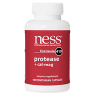 Ness Enzymes Protease w/Cal-Mag #419 180 caps