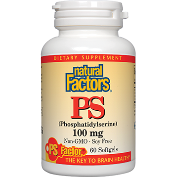Natural Factors PS (phosphatidylserine) 100 mg 60 gels