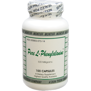 Pure L-Phenylalanine 500 mg 100 caps