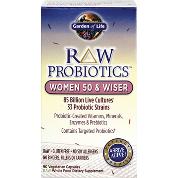 RAW Probiotics Wom 50 and Wiser 90 vcaps