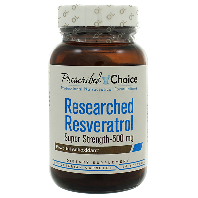 Olympian Labs Prescribed Choice Researched Resveratrol Super Strength 500mg 30c