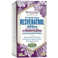 Reserveage Resveratrol with Ptero 250mg 60 vcaps