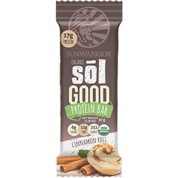 Sunwarrior Sol Good Protein Bar Cinnamon 12 Bars