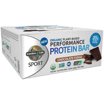 Sport Bar Chocolate Fudge 12 Bars Garden of Life Sport