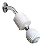 RS-502 Filter with massage action shower head by Shower Pro (white) Rainshowr