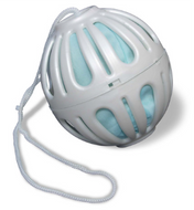 Crystal Ball in 4-color retail box with two colors of nylon tricot pouches. Rainshowr