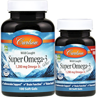 Carlson Labs Super Omega -3 1200mg 130 softgels