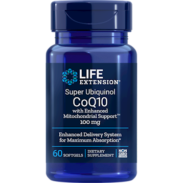 Super Ubiquinol CoQ10 100 mg 60 softgels Life Extension