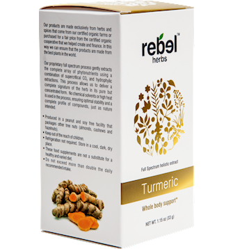 Turmeric Powdered 1.15 oz Rebel Herbs