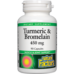 Natural Factors Turmeric and Bromelain 450 mg 90 caps