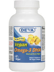 Vegan DHA - Algae 200 mg 90 softgels Deva Nutrition