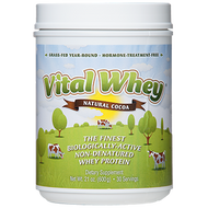 Vital Whey Natural Cocoa (21oz) Well Wisdom Proteins