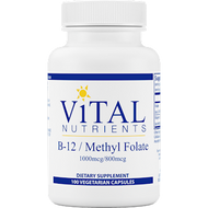 Vital Nutrients Vitamin B12 w/Folate 100 caps