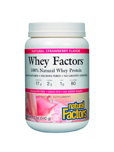 Whey Factors Powder Mix Strawberry 12 oz Natural Factors