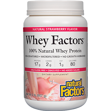 Natural Factors Whey Factors Powder Mix Strawberry 2 lbs