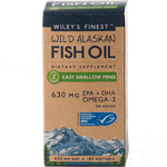 Wild Alaskan Fish Oil 180 mini sgels Wiley's Finest