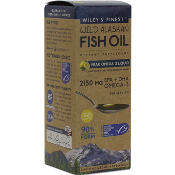 Wild Alaskan Peak Fish Oil 8.45 fl oz Wiley's Finest