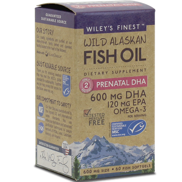 Wild Alaskan Prenatal DHA 60 softgels Wiley's Finest