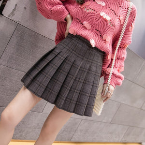 The New Autumn Winter Elastic Force Pleated Skirt